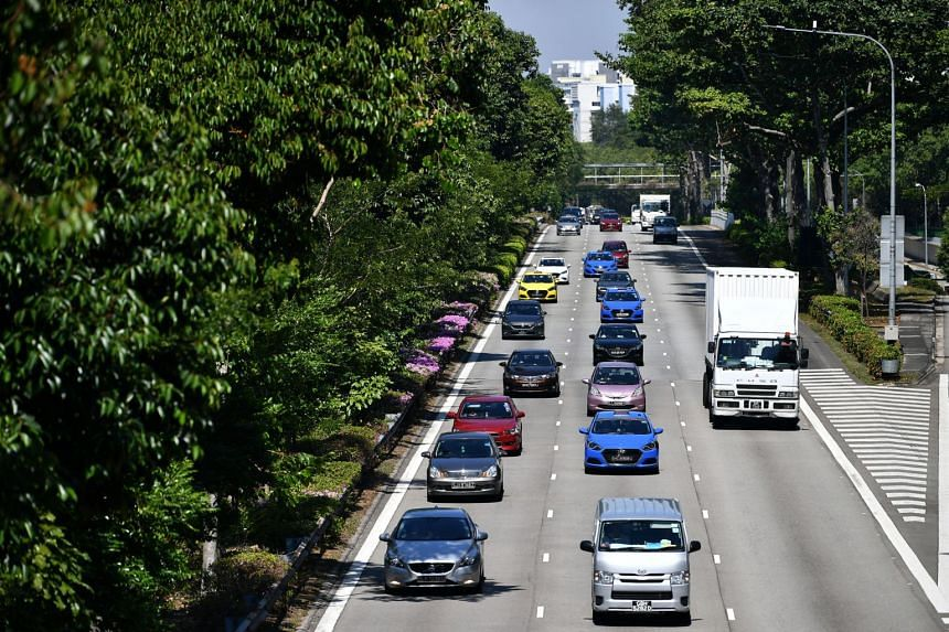 Vehicles on the PIE near Bedok, on March 15, 2019.