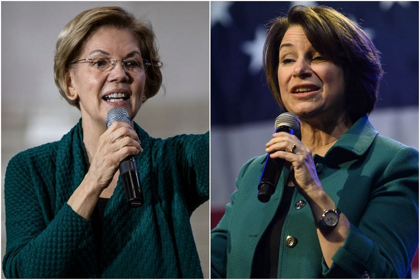 "Editorial board members said they were impressed by Elizabeth Warren's (left) emphasis on policy and said Amy Klobuchar ""could unite the party and perhaps the nation."""