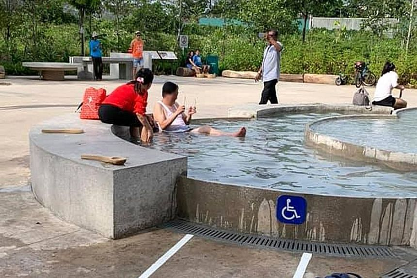 Reports of visitors misusing the facilities at Sembawang Hot Spring Park, such as soaking their entire bodies in the communal foot bath, have circulated online. The park reopened on Jan 4 following a $4.3 million makeover, which included a 1ha expans