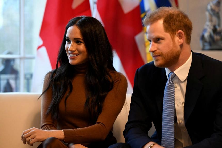 Britain's Prince Harry and his wife Meghan, Duchess of Sussex visit Canada House in London on Jan 7, 2020.