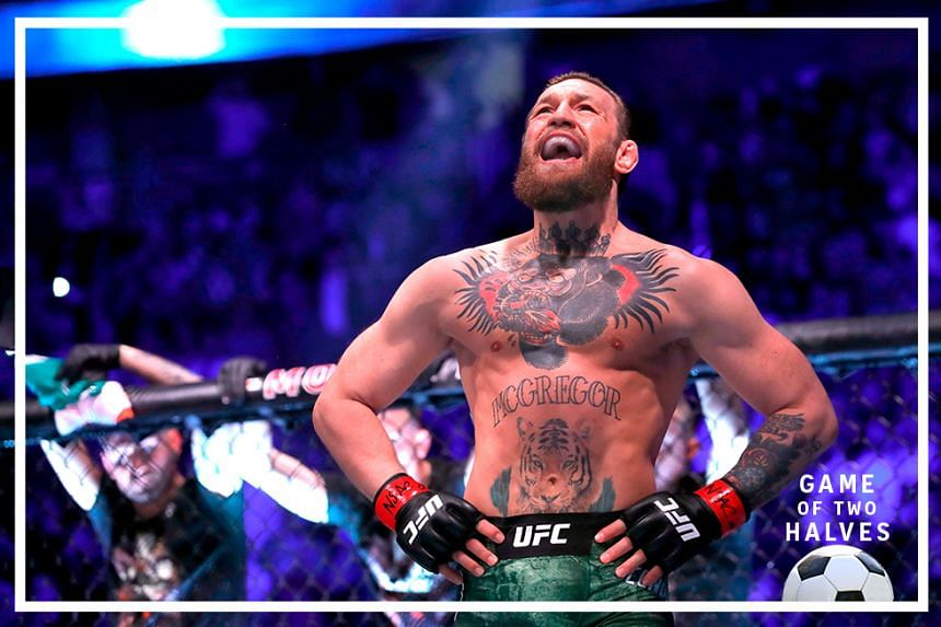 Conor McGregor waits for the start of his welterweight bout against Donald Cerrone during UFC246 at T-Mobile Arena on January 18, 2020 in Las Vegas, Nevada.