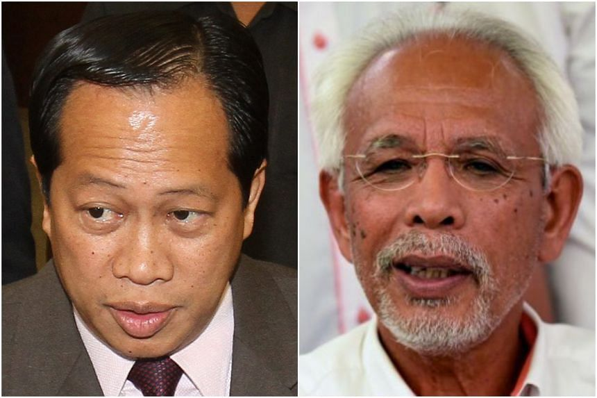 Pontian MP Ahmad Maslan (left) and Johor Baru Umno division chief Shahrir Samad could be fined up to RM5 million or an imprisonment not exceeding five years or both, if convicted.