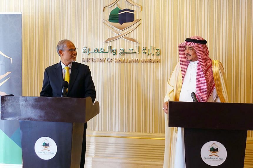 Saudi Minister of Haj and Umrah, Dr Mohammed Saleh Taher Benten, seen here with Minister-in-charge of Muslim Affairs Masagos Zulkifli, conveyed his thanks to Singaporean pilgrims for being very organised and cooperative while performing the haj.