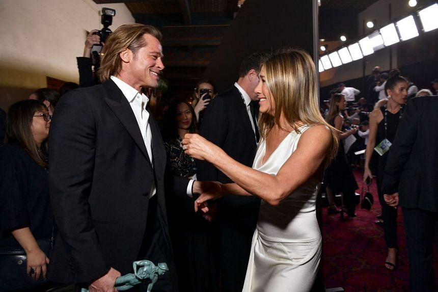 Brad Pitt and Jennifer Aniston were seen chatting and probably congratulating each other at the Screen Actors Guild Awards on Jan 19, 2020.