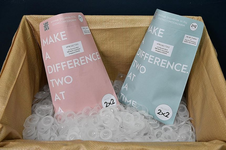 Above: The free envelopes for blister packs.