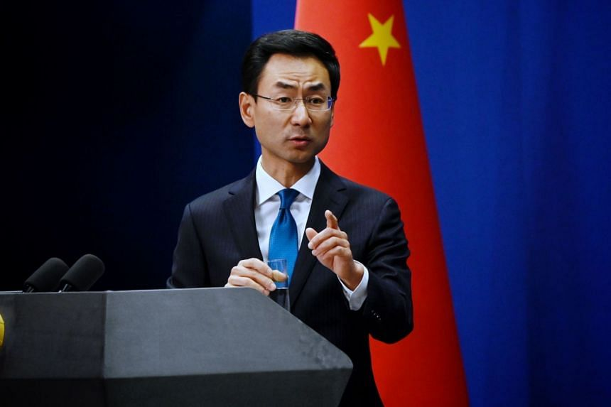 """Chinese Foreign Ministry spokesman Geng Shuang accused the US of using Chinese involvement as """"a pretext to shirk and shift its own nuclear disarmament responsibilities""""."""
