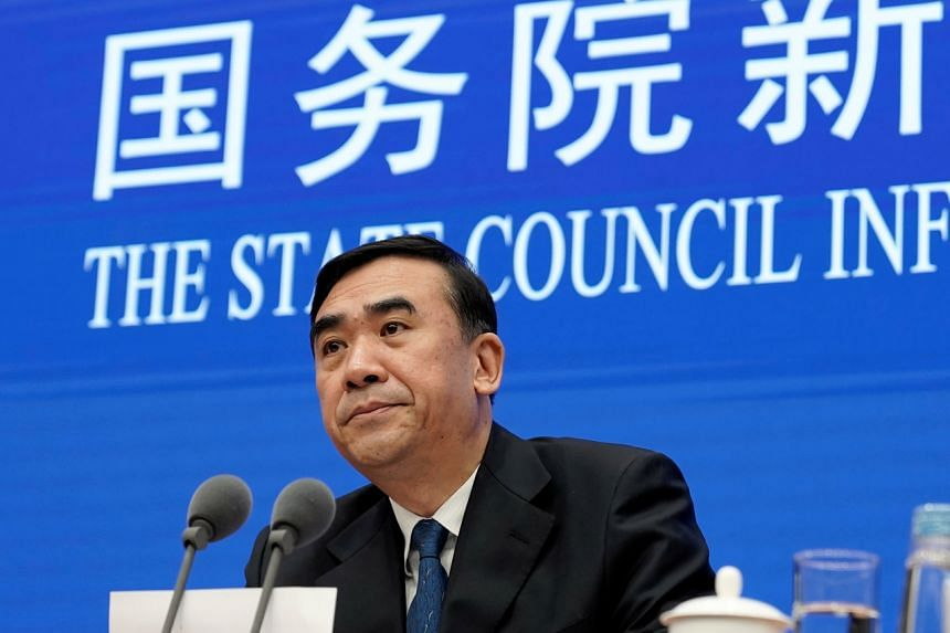 China's Health Commission vice-minister Li Bin attends a news conference on prevention and control of new coronavirus related pneumonia in Beijing, China, on Jan 22, 2020.