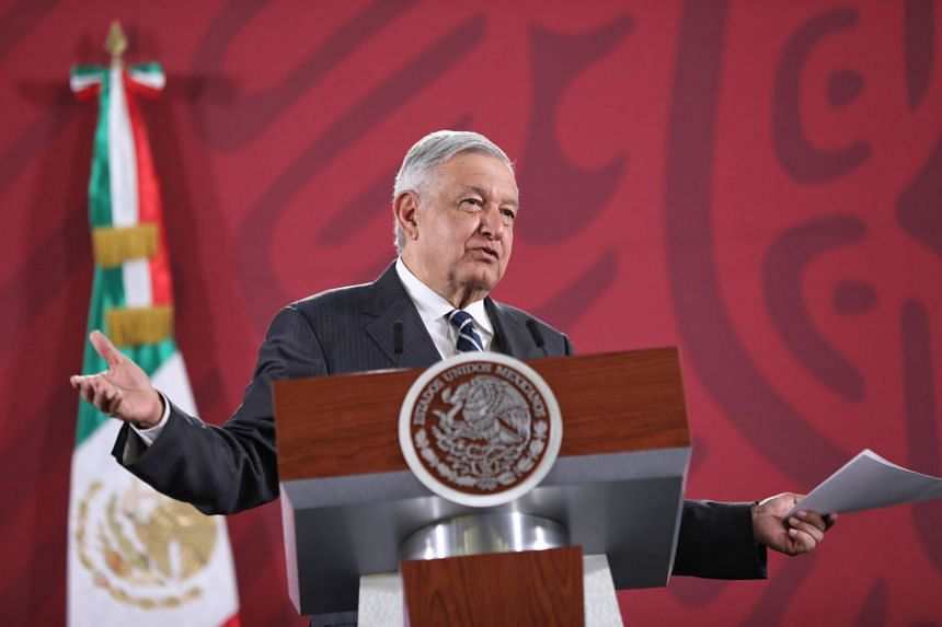 Mexican President Andres Manuel Lopez Obrador speaks during a morning press conference in Mexico on Jan 21, 2020.