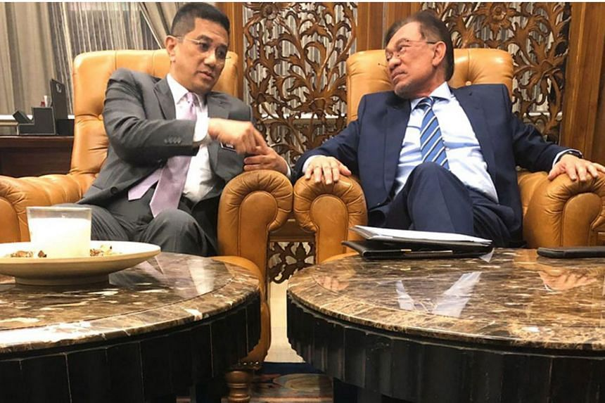 The feud involving the two top leaders of Parti Keadilan Rakyat, deputy president Mohamed Azmin Ali (left) and president Anwar Ibrahim reignited weeks after both factions decided to step back feuding in public.