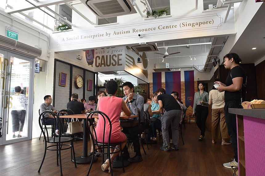 The new 100-seater Professor Brawn Bistro is located in the heart of the Enabling Village in Lengkok Bahru. Whereas social enterprise cafe chain Professor Brawn's other two outlets employ people with autism, the new bistro also counts people with int