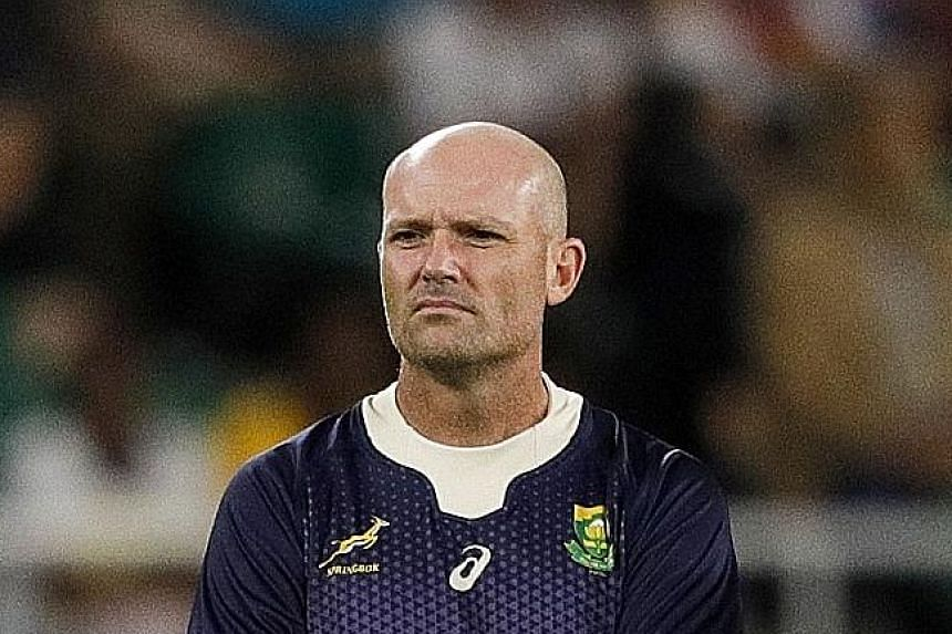 Jacques Nienaber, 47, was the Springboks defence coach when they won the World Cup last year.