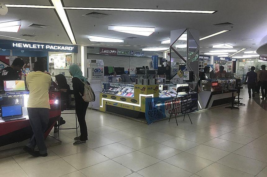 With three bumiputera-only digital malls in Malaysia shut down, the Mara Digital Mall in Kuala Lumpur is the last of its kind there. ST PHOTO: NADIRAH H. RODZI
