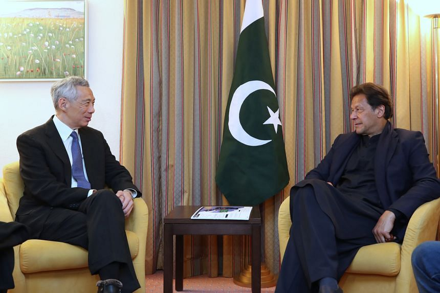 Prime Minister Lee Hsien Loong met Pakistan Prime Minister Imran Khan on the sidelines of the 50th annual meeting of the World Economic Forum in Davos on Tuesday. Both leaders reaffirmed the friendly relations between Singapore and Pakistan, and note