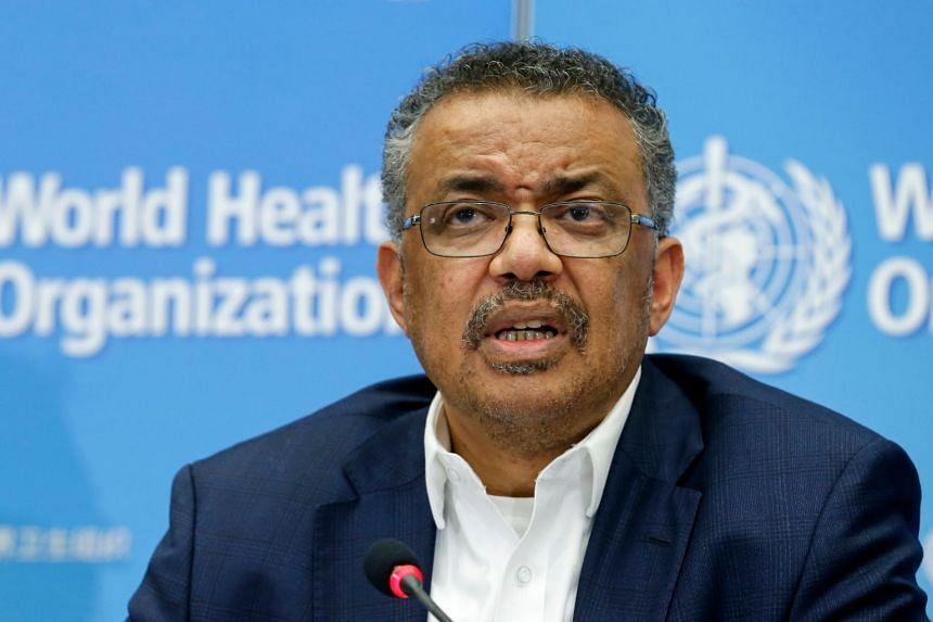WHO director-general Tedros Adhanom Ghebreyesus speaks during a press conference in Geneva on Jan 22, 2020.