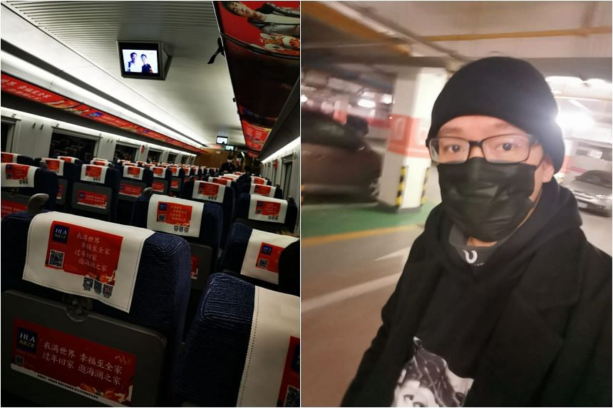 Singaporean Eric Kng took one of the last few outbound trains from Wuhan before the city was quarantined on Jan 23, 2020.