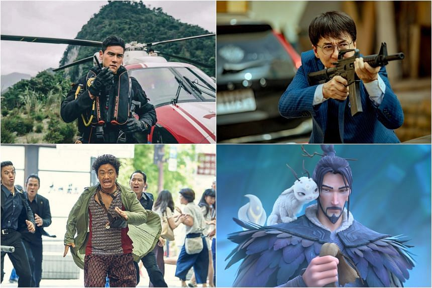 (Clockwise from top left) Originally slated to be shown in cinemas during the Chinese New Year period, The Rescue, Vanguard, Jiang Zi Ya: Legend Of Deification and Detective Chinatown 3 have been put on hold until further notice.
