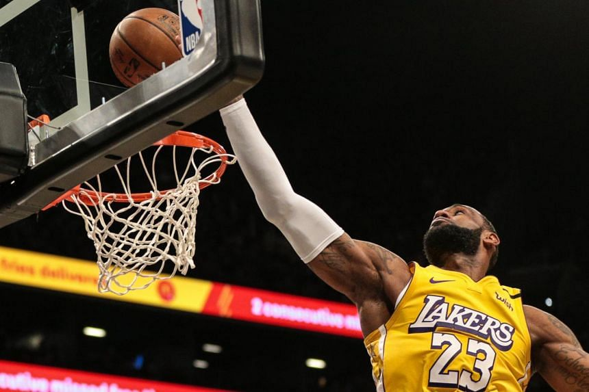 LeBron James records his 91st career triple-double in a victorious game against the Brooklyn Nets at Barclays Center, New York, on Jan 23, 2020.