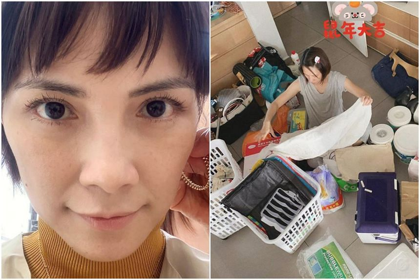 In a post on Wednesday, Malaysian actress Lee Sinje put up a photo of herself doing spring cleaning before Chinese New Year.