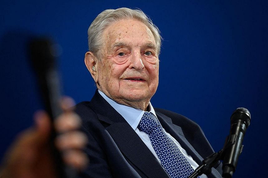 Mr George Soros also says survival of open societies is endangered. PHOTO: AGENCE FRANCE-PRESSE