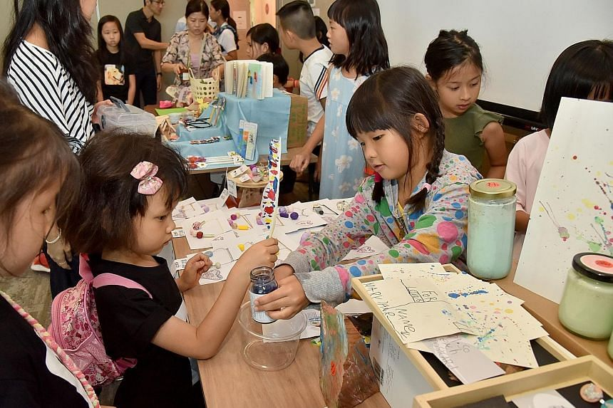 The growing number of activities online and offline, such as the Children's Craft Fair held last year, has made homeschooling as an alternative route more visible in Singapore, say some parents.