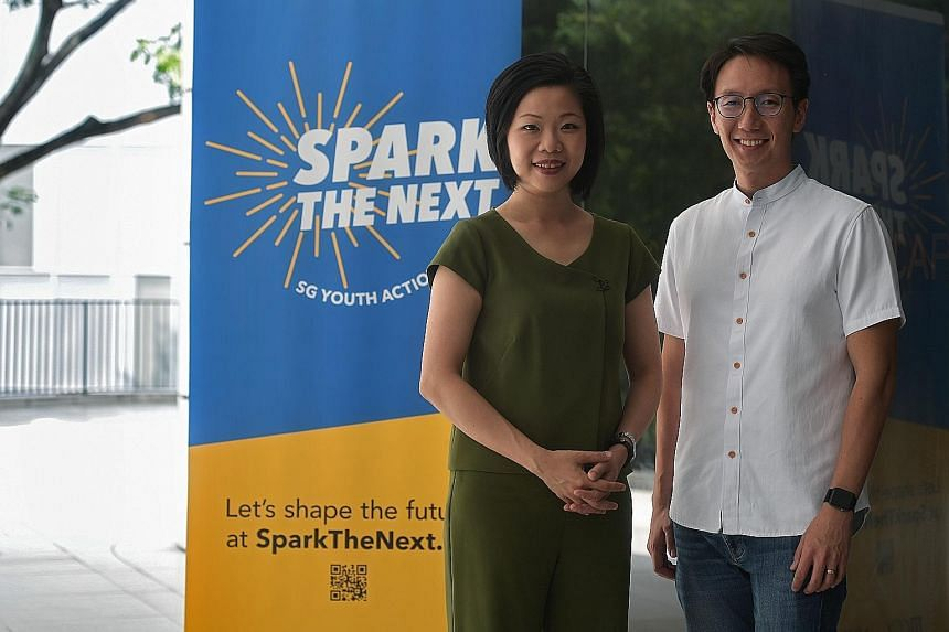 SG Youth Action Plan panel co-chairs Sim Ann and Edward Chia say that besides helping to develop the mental health first-response capabilities of young people, the group will also engage employers on providing better support for those with mental hea