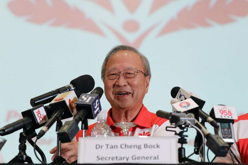 In a photo taken on July 26, Dr Tan Cheng Bock announces the new Progress Singapore Party at a press conference.
