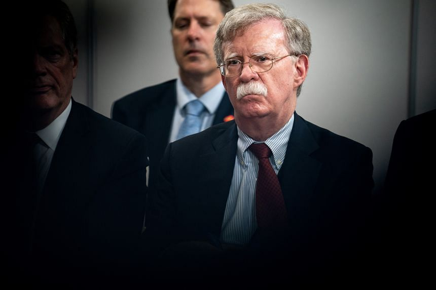 John Bolton recounted his discussion with Barr in a draft of an unpublished book manuscript.