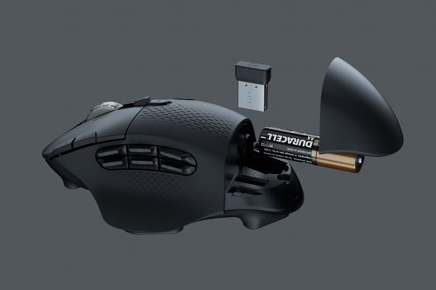 The Logitech G604 Lightspeed gaming mouse.