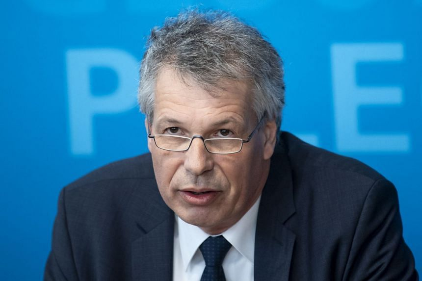 President of the Bavarian state office for health and food safety Andreas Zapf, speaks during a news conference in Munich, Germany, on Jan 28, 2020.