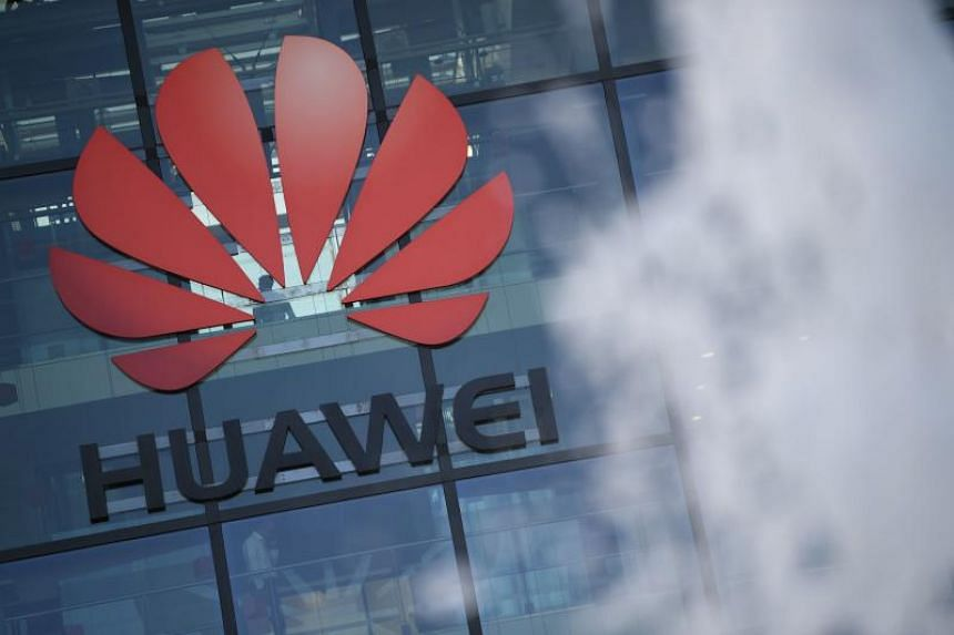 Chinese company Huawei's main UK offices in Reading, west of London, on Jan 28, 2020.