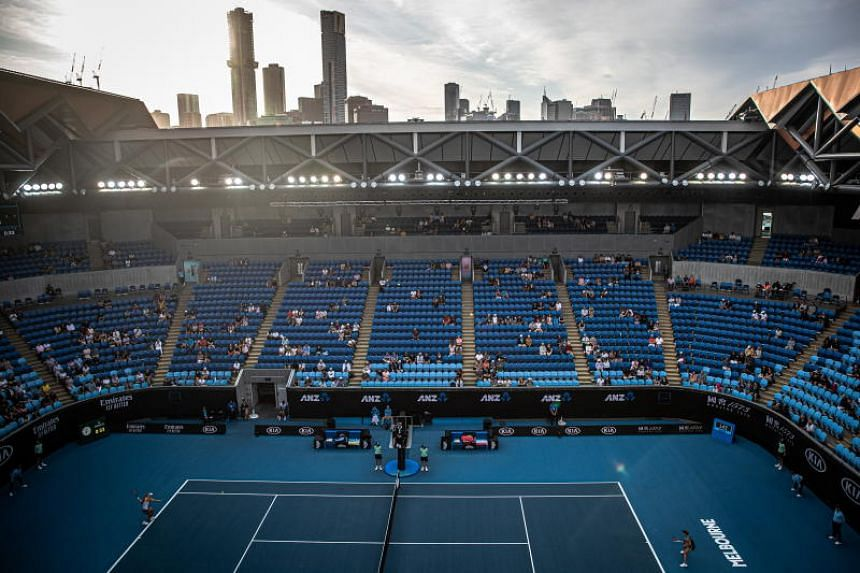 A view of the Margaret Court stadium during the Australian Open Grand Slam tennis tournament in Melbourne on Jan 27, 2020.