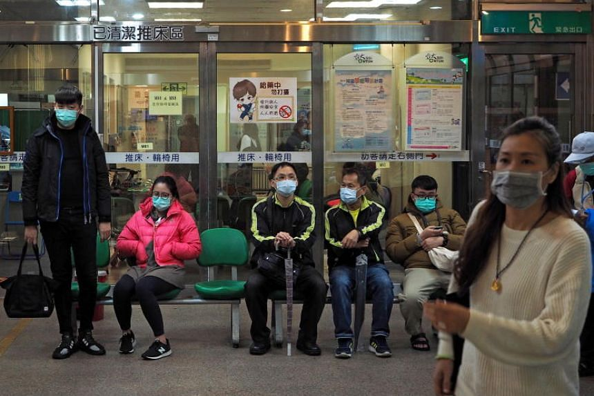 People waiting at the Emergency Department of a hospital in Taipei on Jan 26, 2020.