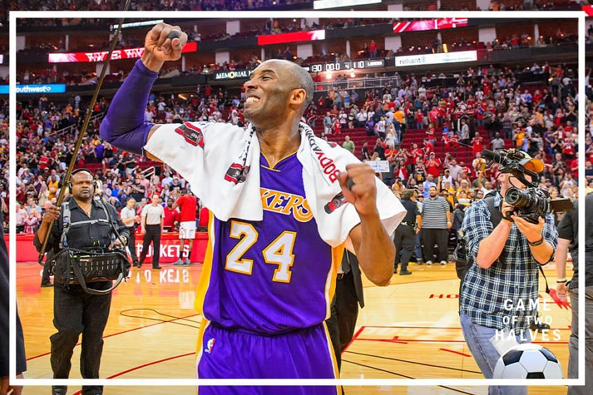 Los Angeles Lakers forward Kobe Bryant (24) acknowledges the crowd as he leaves the court for the second to last game of his NBA career after the game between the Rockets and the Lakers at the Toyota Center. The Rockets defeat the Lakers 130-110.