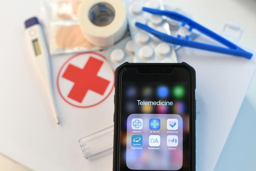 A photo illustration of telemedicine apps.