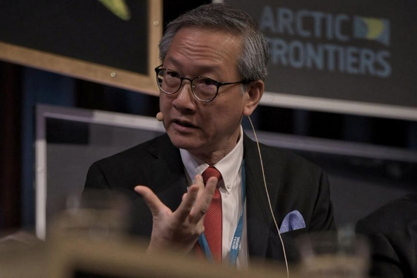 Minister of State for Foreign Affairs Sam Tan speaking during the Arctic Frontiers conference in Tromso, Norway, on Jan 28, 2020.