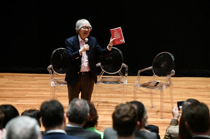 Ambassador-at-Large Professor Tommy Koh at the launch of Fifty Secrets Of Singapore's Success.