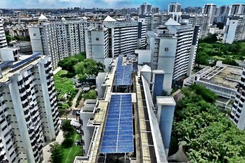 One of Sunseap's solar systems in Singapore.