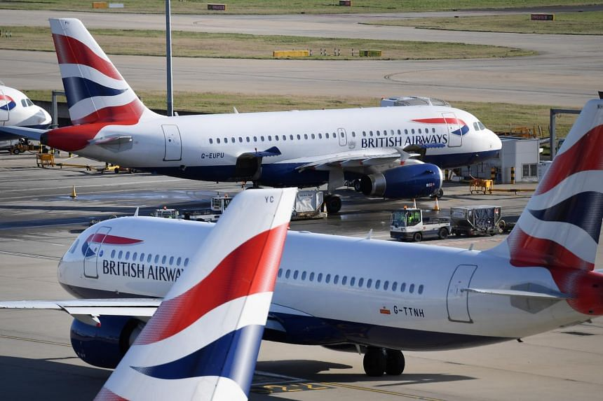 British Airways halted daily routes to Beijing and Shanghai from London's Heathrow airport.