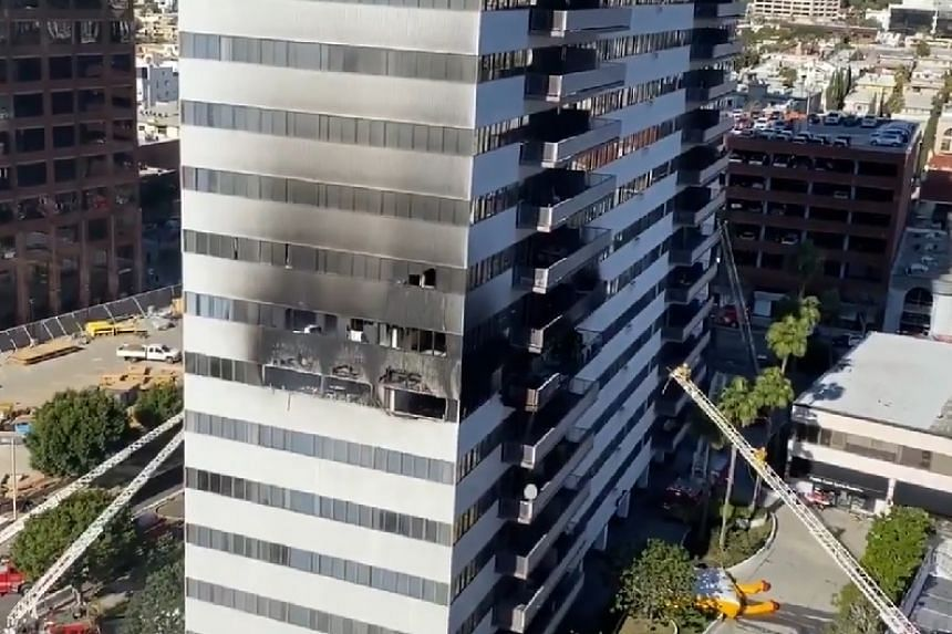 West LA Residential High-Rise on Fire