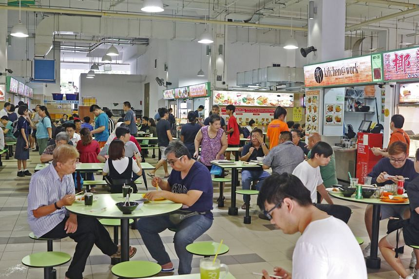 People at having their meals Ci Yuan Hawker Centre, on Nov 9, 2018.