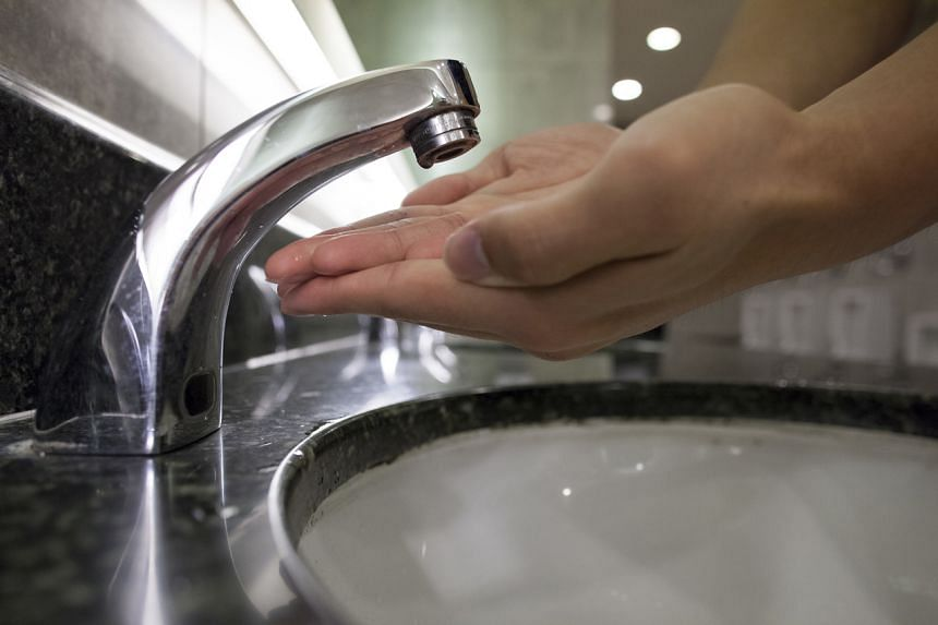 A no-touch tap at Ngee Ann City has the sensor at the base.