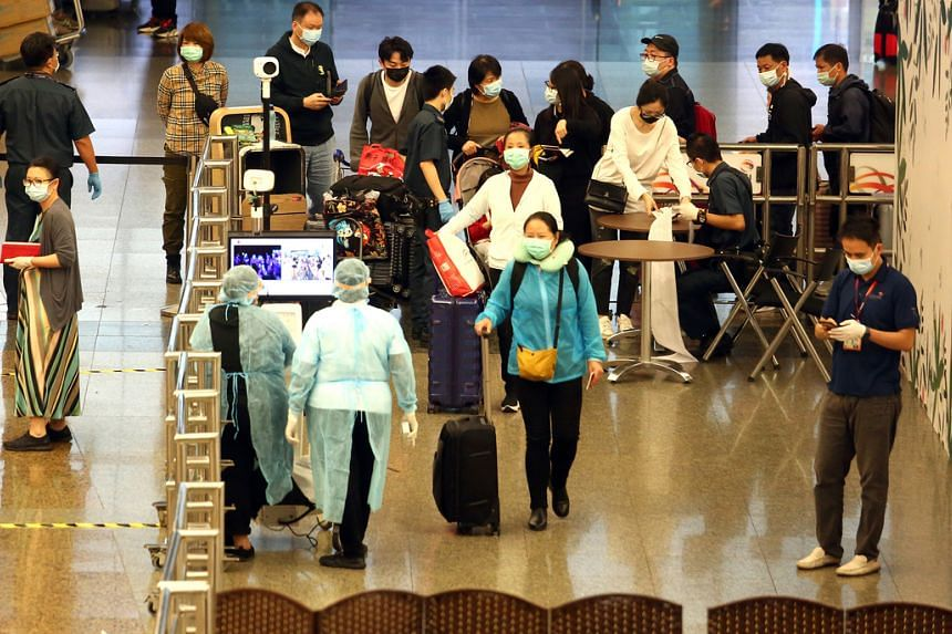 The evacuation of the Singaporeans comes after a specially arranged Scoot flight took off from Changi Airport on Jan 29, 2020, with Wuhan residents who had been stranded in Singapore (pictured).