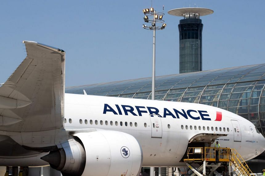 An Air France jet parked on the tarmac at Paris' Roissy-Charles de Gaulle airport.