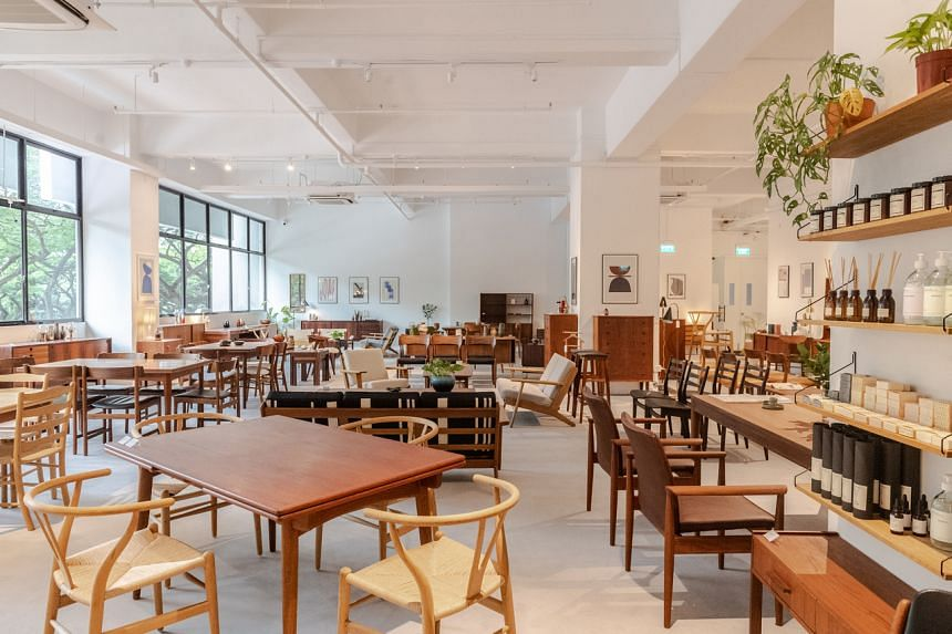 Vintage Scandinavian furniture store Noden in Henderson Road.