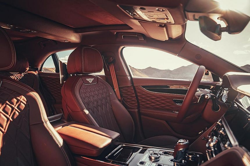 Complex stitched leather for a Bentley.