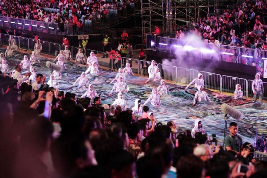 A performance at Chingay 2019.