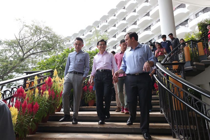 Deputy Prime Minister Heng Swee Keat visiting Shangri-La's Rasa Sentosa Resort & Spa on Feb 1, 2020.