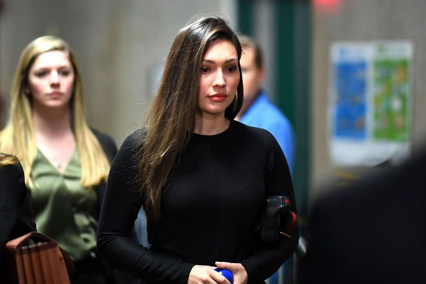 Jessica Mann arrives at court for the trial of Harvey Weinstein on Jan 31, 2020 in New York City.