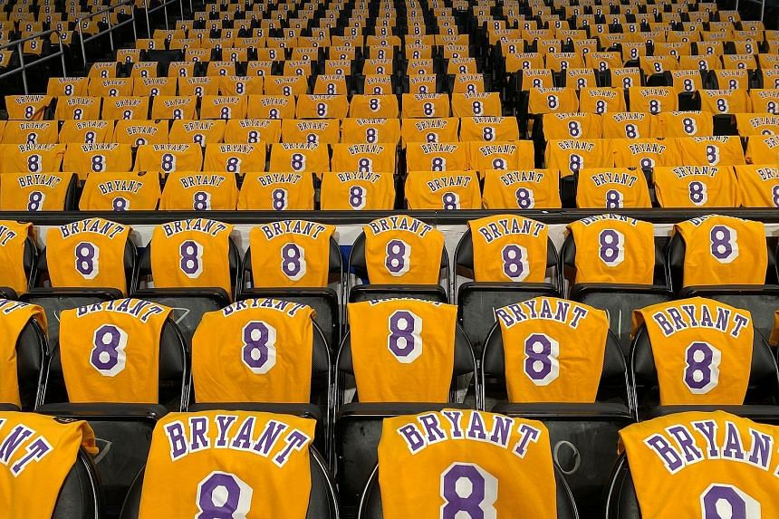 James was in tears during the pre-game tribute to the late Kobe Bryant which saw each seat at the arena draped in his No. 8 jersey