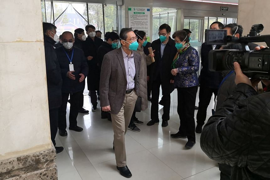Respiratory expert Zhong Nanshan visits Jinyintan hospital in Wuhan where patients with pneumonia caused by the new strain of coronavirus are being treated, on Jan 20, 2020.